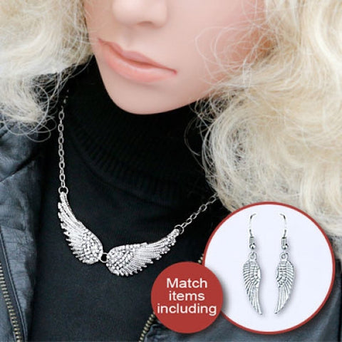 Jewelry Sets-Angel Wings Choker Necklaces