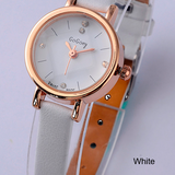 Special OFFER Watch-Ladies Mini Quartz Watches Ultra Thin Rhinestone Crystal Leather Strap