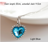 Special OFFER  Heart Of Ocean titanic Crystal Rhinestone Inlaid Heart Shaped Pendant Necklace
