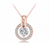 Jewelry Sets- Rose Gold Plated Necklace/Earring Bijouterie Sets