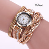 Bracelet Watch- Rhinestone Quartz Watch PU Leather