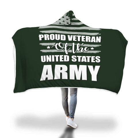 US Army Veteran hooded blanket