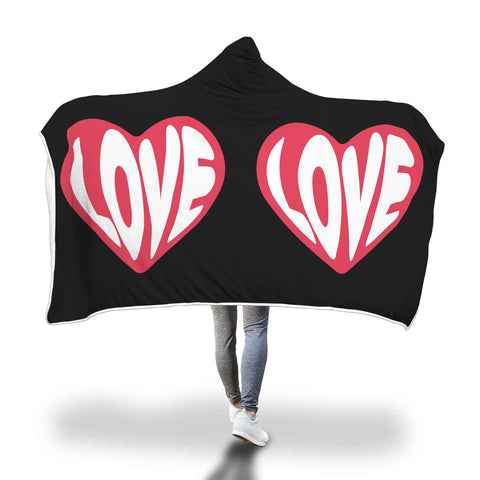 Love Designed Hooded Blanket