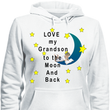 Love My Grandson To The Moon And Back Hoodies