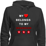 My Heart Belongs Grandkids Hoodies