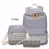 Backpacks- 3/PCS.Women and Teens Canvas Printing High Quality Backpacks Plus