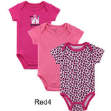 Baby Clothes-3pcs Baby Romper Short Sleeve
