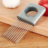 Kitchen-Best Stainless Steel Onion Tomato Holder Slicer &  Meat Tenderizer