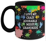 Adorable,Crazy,Messy Grandkids Mug