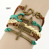 Special OFFER  Bracelets-Multilayer Vintage Charm Leather Bracelets