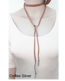 Pendant Necklaces- Black Terciopelo Leather Bow Choker DIY Necklace