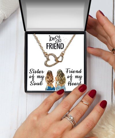 Best Friend  Jewelry, Gift For Best Friend, Gift From Best Friend, Inspirational Necklace ,Best Friend Jewelry Message card