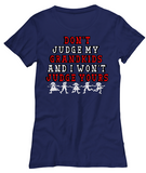 Don't Judge My Grandkids-WomenT-Shirts