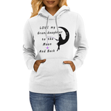 Love My Granddaughter To The Moon And Back Hoodies