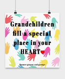 Posters-Grandchildren Fill A Special Place - Hands