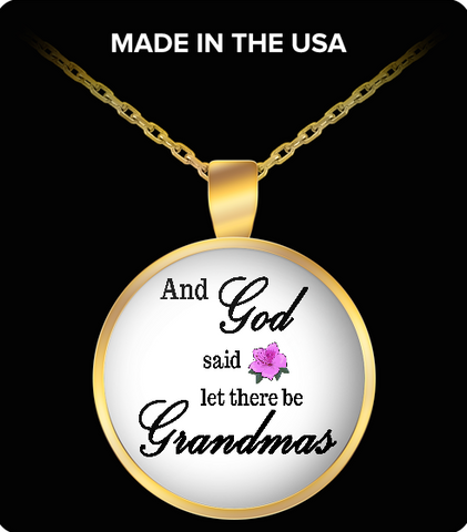 Pendant Necklaces GrandmasPurpleFlower