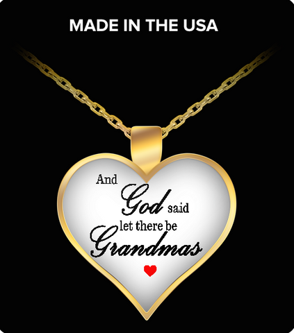 Pendant Necklaces Grandma Heart