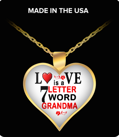Pendant Necklaces Love 7 Letter Grandma
