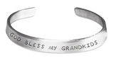 Stamped Bracelet God Bless My Grandkids