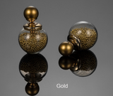 Earrings-18K Gold Plated Fashion Jewelry Thick Glass Beads Stud Earrings Double Ball Earrings