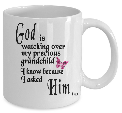 God is Watching Mug