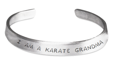 Stamped Bracelet I am a Karate Grandma