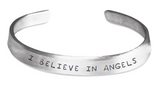 Stamped Bracelet I Believe in Angels