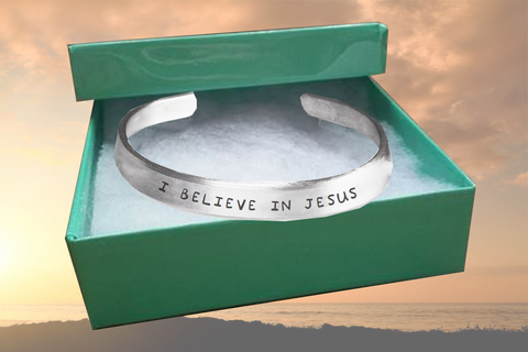 Stamped Bracelet I Believe in Jesus