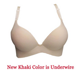 Brassiere-Seamless Women Push Up Gather Adjustable Bra