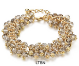 Bracelets-Handmade Gold Crystal Bracelets For Women