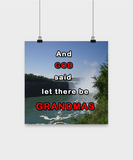 Poster-And God said let there be Grandmas - By The Falls Scenery