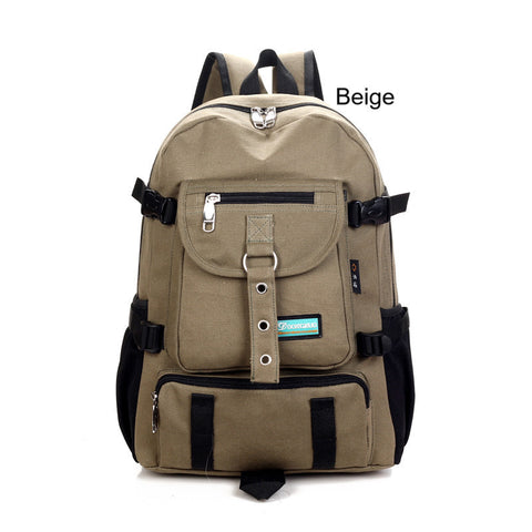Backpacks- Arcuate Shouider Strap Zipper Solid Casual Backpack