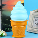 Lamp-Ice Cream Cone Shaped Night Light Desk Table LED Lamp Kids