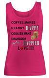 CoffeeCookiesHappy-Women Tank Top