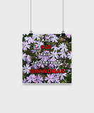Posters-And God said let there be Grandmas - Purple Flowers