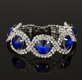 Bracelets-Fashion Bracelets & Bangles Silver And Gold Plated Rhinestone