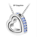 Pendant Necklace-Silver & Gold Plated Jewelry Crystal Necklaces & Pendants
