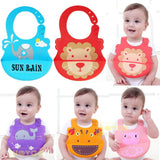 Baby Waterproof Silicone Feeding Resuable Bib