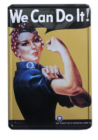 Decorative Metal Wall Signs- WE CAN DO IT.....  20X30cm