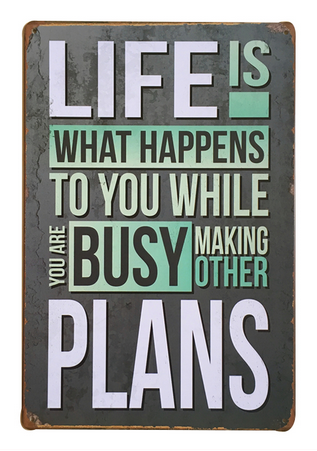 Decorative Metal Wall Signs- LIFE IS.....  20X30cm