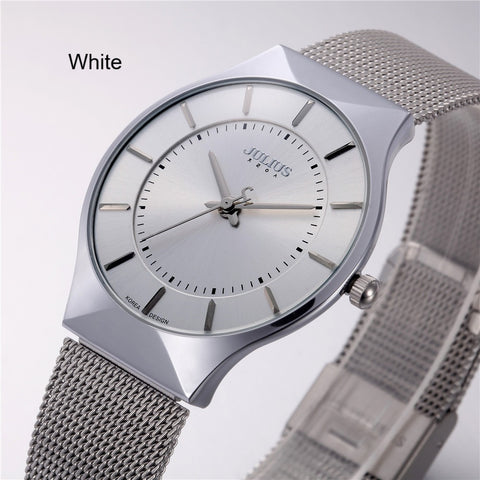 Watch-Men's Watches Ultra Thin Stainless Steel Band Net Belt Analog Sports Quartz