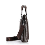 Bags- Men Leather Casual Business Messenger Travel Shoulder Briefcase Bag