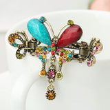 Hair Accessories- Turquoise Butterfly Flower Hairpins Barrette