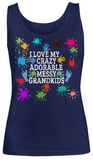 Adorable,Crazy,Messy- Women Tank Tops
