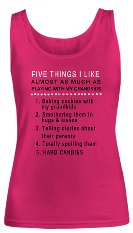 Grandkids 5 Things-Women Tank Top