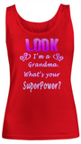 Women Tank Top-Look I'm a Grandma SuperPower