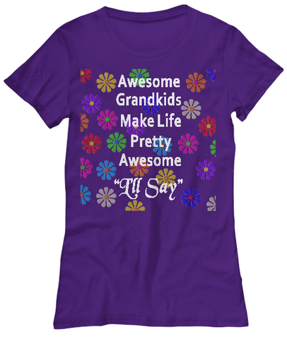 Awesome Grandkids-WomenT-Shirts