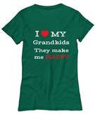 I Love My Grandkids-Women Tshirts