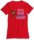 I Rescue3 Dogs-WomenT-Shirts