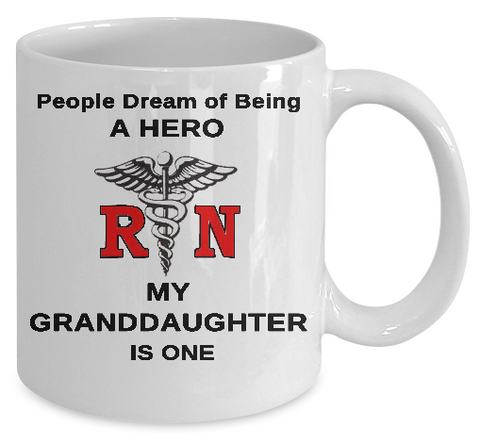 Nurse-Hero Granddaughter Mug